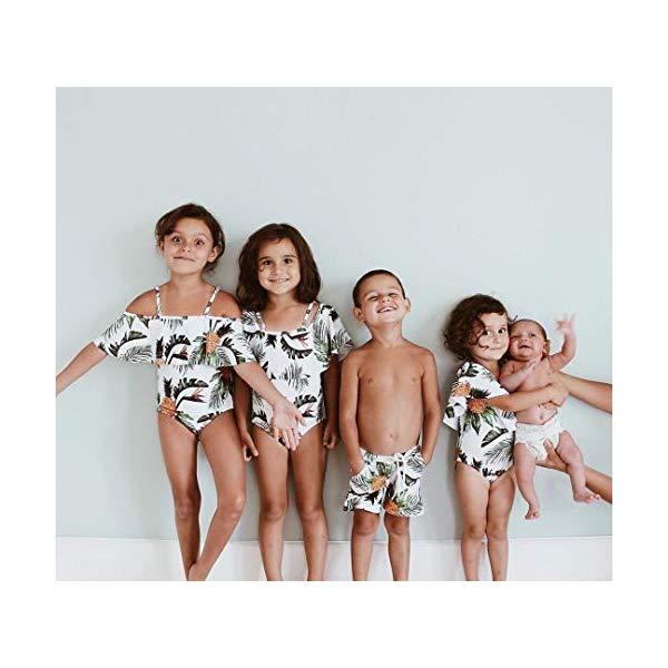Yaffi Family Swimsuit Striped One Piece Beach Wear Newest Off Monokini Bathing Suit