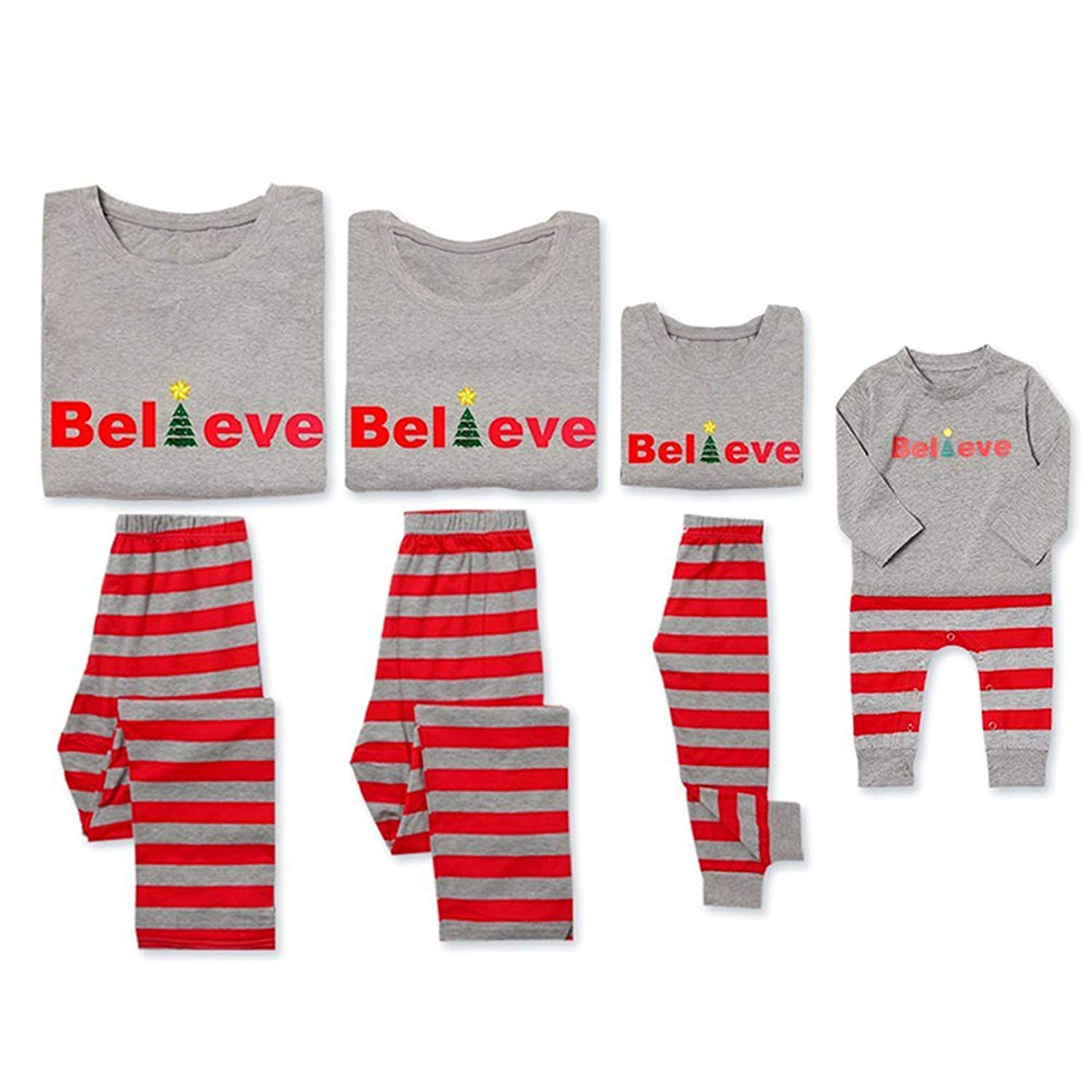 Yaffi Family Matching Christmas believe
